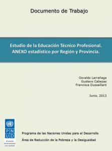 Anexo estadístico | Estudio de la Educación Técnico Profesional