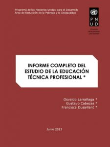 Informe completo Estudio de la Educación Técnico Profesional