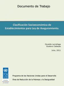 Clasificación socioeconómica de establecimientos para ley de aseguramiento