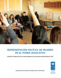 Representación política de mujeres en el Poder Legislativo