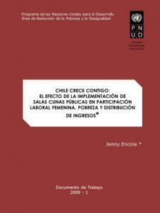 Chile Crece Contigo: el efecto de la implementación de salas cunas públicas en la participación laboral femenina, pobreza y distribución de ingresos