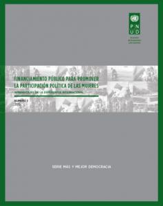 Financiamiento público para promover participación política de mujeres